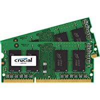 Crucial 8GB Single DDR3 1866 MT S PC3-14900 SODIMM 204-Pin Memory - CT102464BF186D 16GB Kit (8GBx2)