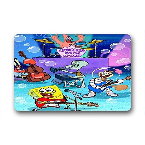 "SANMOU Design SpongeBob SquarePants Home Fashions Non-Slip Coco Doormat 23.6""x15.7"""
