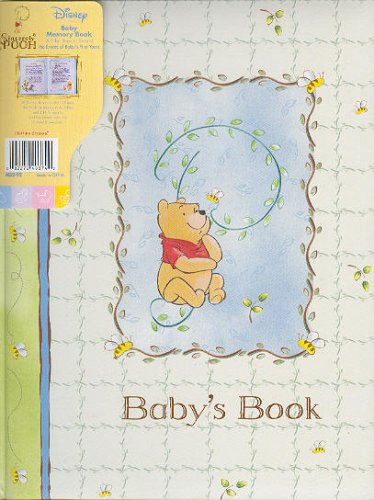 Disney SINCERELY POOH Winnie the Pooh Baby Memory Record Book