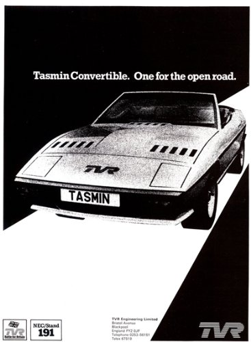 Tasmin Convertible TVR Advert (1980) Art Print