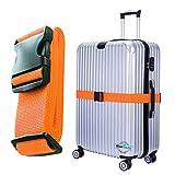 BlueCosto 1枚-オレンジ スーツケースベルト トラベルアクセサリ 600016-ORG