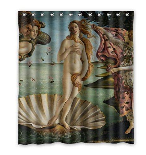 """Rinascimento raccolta, la naissance de Venus/La nascita di Venere by Sandro Botticelli, Venere Dea dell' amore serie Decor 100% poliestere Tenda da doccia (60""""x 72cm)"""