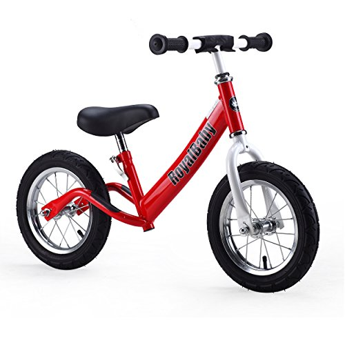 Royalbaby 12 inch Kid's Bike, Boy's Bike, Girl's Bike Balance Bike, Running Bike, Push Bike, No Pedal Bike, Red (Cycle For Baby compare prices)