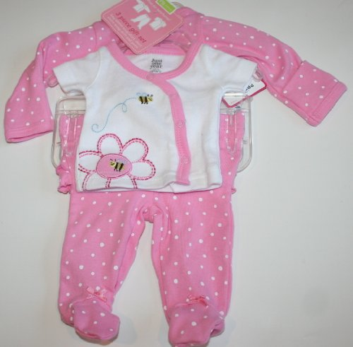 Carter's Baby/Infant Girl's 3 Piece Set - Preemie - Pink