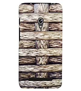PrintVisa Knitted Ropes Pattern 3D Hard Polycarbonate Designer Back Case Cover for Asus Zenfone 5