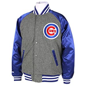 MLB Chicago Cubs Triple Play Wool Jacket Mitchell & Ness Cooperstown Mens 5XL by Mitchell & Ness