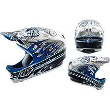 Troy Lee Designs TLD D2 Helmet Bicycle / BMX - Pistonbone Blue Chrome Size Medium / Large (M/L) *LIMITED EDITION* / 0381-5809