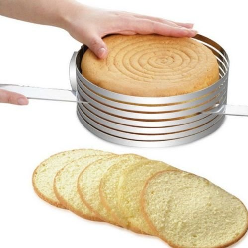Novelty Cake Pans Round Stainless Steel Layer Cake Slicer Kit Mousse Slicing Cake Setting Ring Mould Bakeware Tool Cutter, Convenient Adjustable Cake Slicer Decorating Supplies 1Pcs (Cars 2 Cake Pan compare prices)