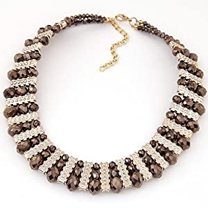 Amazon.com: Collares Mujer Fashion Crystal Statement