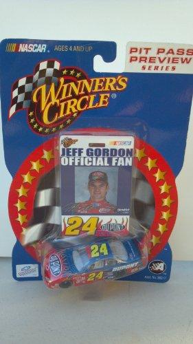 Winners Circle Pit Pass Preview Series 1:64 Scale Nascar #24 Jeff Gordon Dupont Stock Car - 1