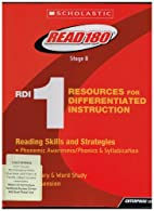 Read 180 Stage B Resources for…