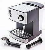 Kitchen - Charles Jacobs 15 Bar Pump COFFEE MACHINE - Espresso Italian Style - Hot Drinks Maker 1 Year 5 Star Warranty (Steel/Black)