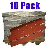 Produktbild von 10er Pack Dachschindeln Rechteck Rot 10x 3 m² = 30