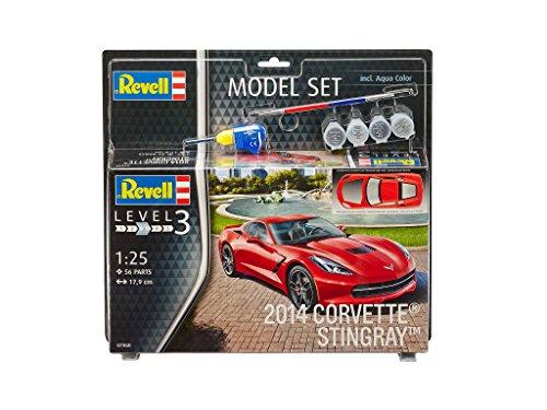 revell-model-set-67060-maquette-corvette-c7-stingray-2014-jaune-echelle-1-25-56-pieces