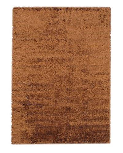 Hand-Knotted Casablanca Retro Shag, Brown, 5' 7 x 7' 10