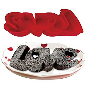 "DCI Silicone Word Cake Pan - ""LOVE"""