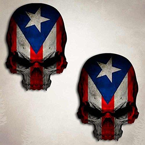 Puerto Rico Flag Skull Decal (Puerto Rico Auto Decals compare prices)