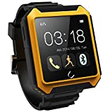Sourcingbay Uterra Bluetooth Smartwatch Waterproof IPX68 Pedometer IPS Screen for Iphone 6 5 5s Samsung S5 Note 4 Phone Book Sync, Phone Call, SMS, Sleep Monitor, Pedometer Yellow