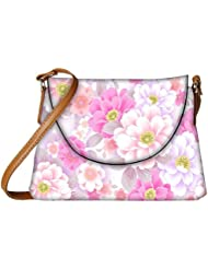 Snoogg Floral Background Designer Womens Carry Around Sling Bags