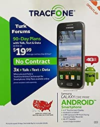 ExpressUSA TracFone - Samsung Galaxy Core Prime 4G - 8GB Memory Prepaid No Contract Smartphone Cell Phone - Gray TM