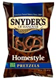 Snyders of Hanover Pretzels, Homestyle, 12 Ounce (Pack of 12)