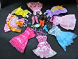 Toy - Package of 36 Barbie Sindy doll sized items: 12 x dresses 12 x shoes/boots & 12 hangers