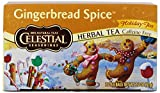 Celestial Seasonings Gingerbread Spice Herbal Tea, 20 Count Tea Bags (Pack of 6)