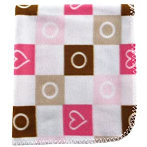 Luvable Friends Printed Fleece Blanket - Extra large size: 30 x 36