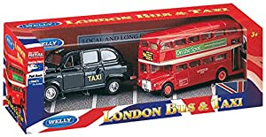 Welly London Taxi and Bus Diecast Model
