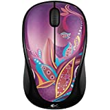 Logitech Wireless Mouse M317 Paisely Pond Purple (Part # 910-003705)