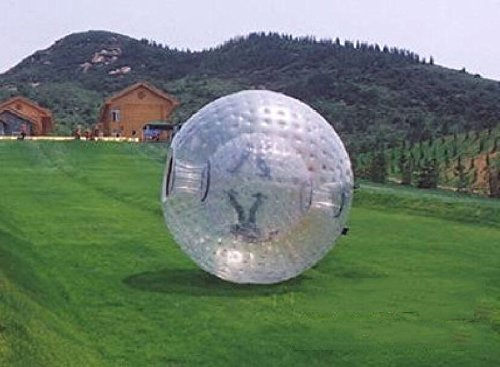 QJ New 2 5M PVC Zorb Ball Inflatable Zorb Ball Zorbing Human Hamster Ball 1 0mm