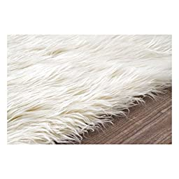 Nuloom 5\' x 7\' Cloud Shag Rug in White