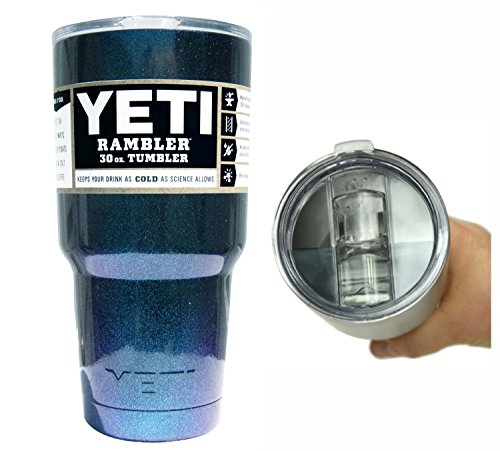 Yeti Coolers 30 oz Stainless Rambler Tumbler Cup with Exclusive Spill Proof and Resistant Lid (Chameleon Teal)