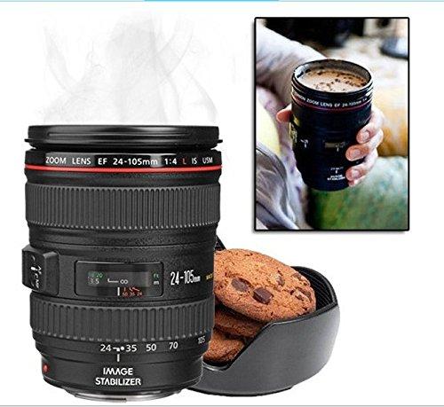 より良い品質!2014新バージョン----1:1スケール一眼24〜105ミリメートルのカメラレンズステンレス鋼カップコーヒーマグ、良いクリスマスプレゼント