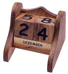 kalender gr s ewiger kalender datumsanzeige aus holz. Black Bedroom Furniture Sets. Home Design Ideas