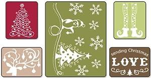 Sizzix Textured Impressions Embossing Folders 5/Pkg Sending Christmas Love