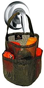 The Original Mesh Shower Bag for Dorm & Gym, Black, by Saltwater Canvas LLC