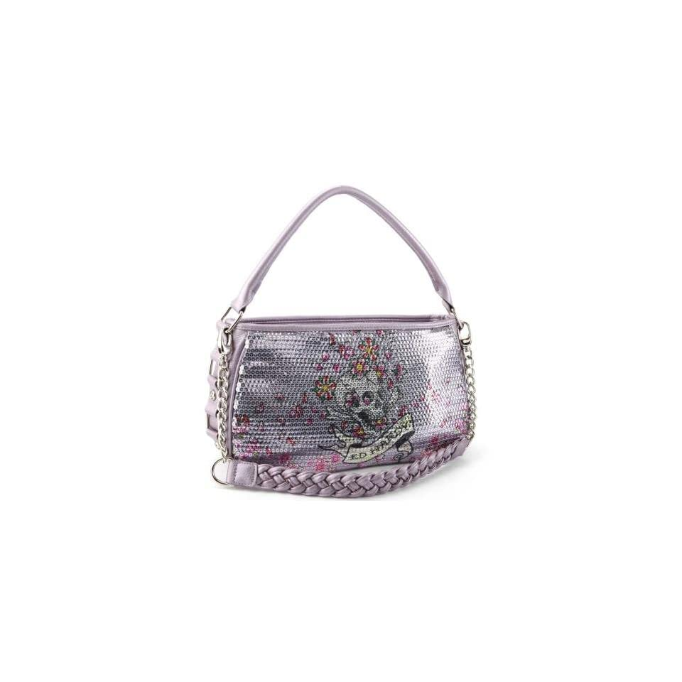 7ad2319274c4 Ed Hardy Treasure Chest Agnes Hobo Bag Purple on PopScreen