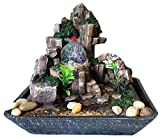 Zimmerbrunnen Feng Shui in Polyresin mit LEDs