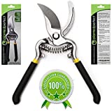 Bypass Pruning Shears - Black Pro Grade Secateurs for Home Garden and Landscaping - The Perfect Hand Pruner for Gardening Greatness - Razor Sharp, Durable Planted Perfect Trimmer with Lifetime Guarantee!