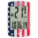 CatEye Padrone Wireless Cycling Computer CC-PA100W: USA Flag Cateye