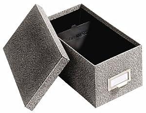 Globe-Weis Fiberboard Index Card Storage Box, 4 x 6 Inches, Black Agate (94 BLA)