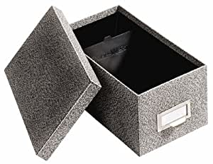 Globe-Weis Fiberboard Index Card Storage Box, 4 x 6 Inches, Black Agate (94 BLA)
