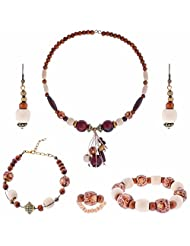 ARC 5 Piece Wooden Combo Jewellery Set (01212082)
