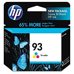 C9361Wn (Hp 93) Vivera Ink 220 Page-Yield , C9361Wn (Hp 93) Ink, 220 Page-Yield, Tri-Color