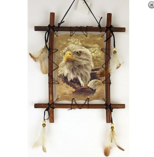 Wood Frame Dream Catcher Eagle