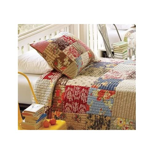 Amazon.com - Pottery Barn Providence Patchwork Quilt & Sham