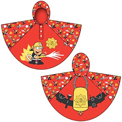 Bugzz Kids Stuff Rain Ponchos (Fireman)