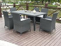 Epic Buy Solara Piece Patio Furniture Outdoor Dining Set Black or Brown Wicker