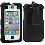 Apple iPhone 4 AGF HC Ballistic Black White Case - 1